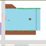 Le plan de l'étang des autels