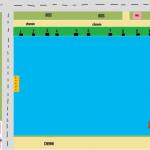 Le plan de l'étang de caillaux