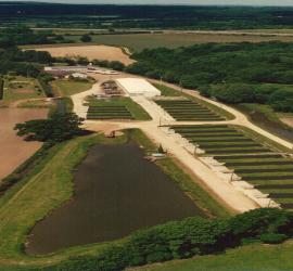 La pisciculture vue du ciel